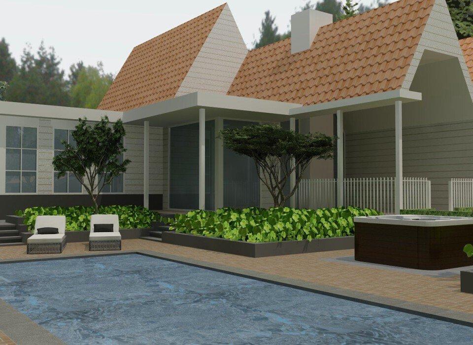 Zwembad woonhuis Leende